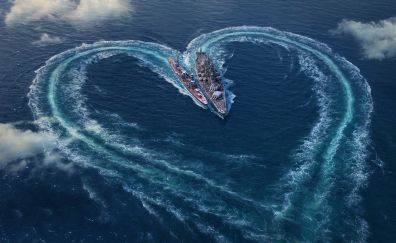 Love, heart, online game, world of warships, valentines day