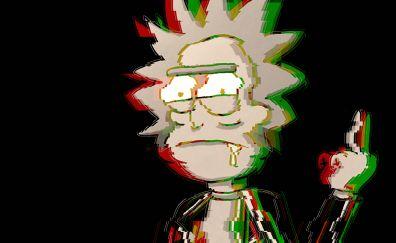 Rick sanchez, Rick and morty, glitch art