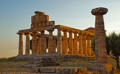 Italy, temple, old architecture, stones