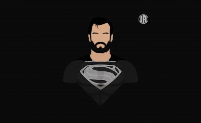 Superman, dark, minimalism, 8k