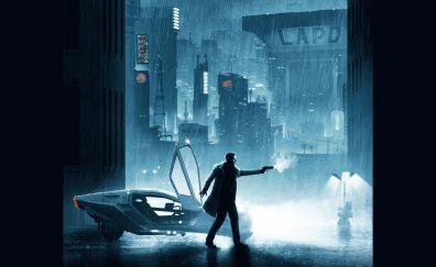 Ryan gosling, blade runner 2049, movie, fan art