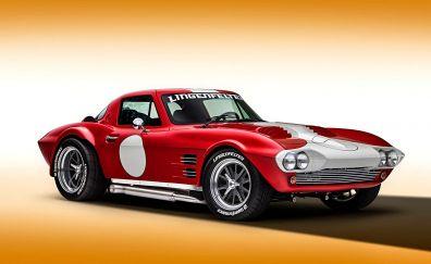 Sports car, corvette, side view