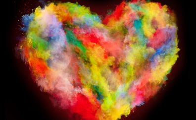 Heart, colorful explosion, colors