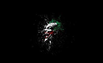 Joker, villain, laugh, face, minimal