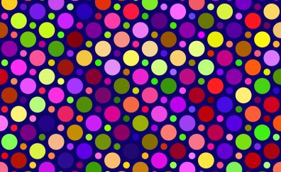 Texture, colorful, circles, abstract