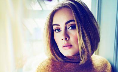 Adele, English singer, face, 2017