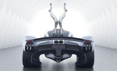Taillight, rear view, doors open, Aston Martin Valkyrie