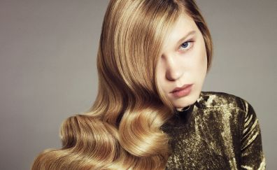 Blonde, face, Léa Seydoux, celebrity