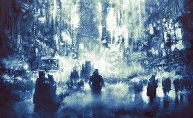 Blade runner 2049, city, modern city, art