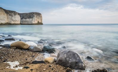 Rocks, stones, beach, sea, nature