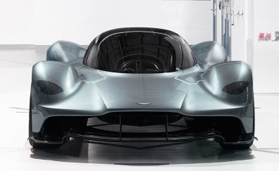 Silver, Aston martin Valkyrie, super car, 2018