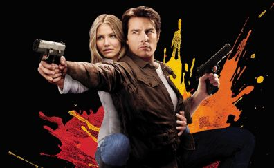 Cameron Diaz and Tom Cruise in Knight and Day, 2010 movie, poster
