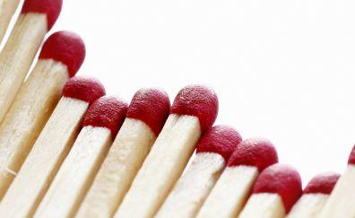 Matches, sticks, close up