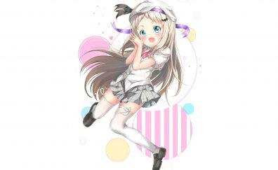 Kudryavka Noumi, Little Busters!, cute anime girl, minimal, 5k