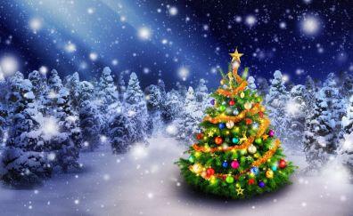 Merry Christmas green tree