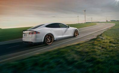 NOVITEC - Tesla Model S, rear, on road, 4k