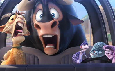Ferdinand, animated movie, animals, 2017 movie, 4k