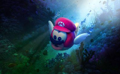 Super Mario Odyssey, underwater, 4k