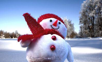 Snowman, winter, fun, holiday, 2017