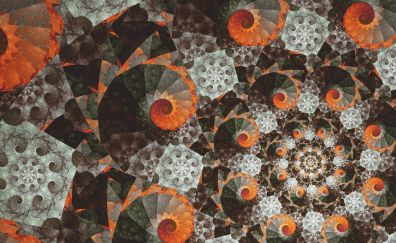 Glitch art, fractal, pattern, abstract, swirl