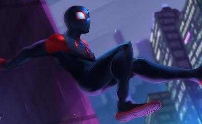 Spider-Man: Into the Spider-Verse, 2018 movie, fan art, 4k