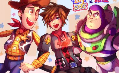 Kingdom Hearts III, video game, Toy story, movie, Crossover
