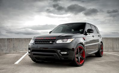 Black range rover, SUV, 4k