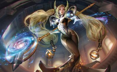 Blonde, girl warrior, celeste, vainglory