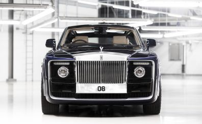 Rolls-Royce Sweptail, front view, 4k