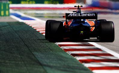 On road, Mclaren, formula one, car, 4k