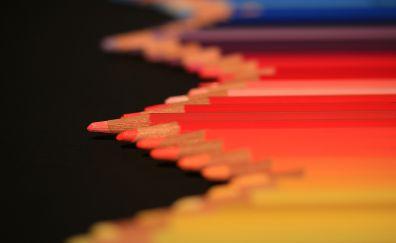 Colorful, pencils, arrangement, 4k