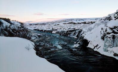 Iceland, river, landscape, nature, 4k