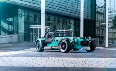 Green, Caterham 7, car