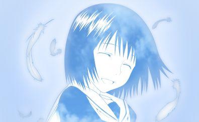 Cute, smile, Misaki Nakahara, anime girl