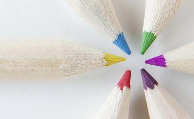 Pencils tip, colorful, close up