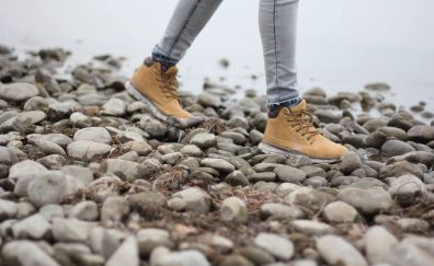 Shoes and rocks