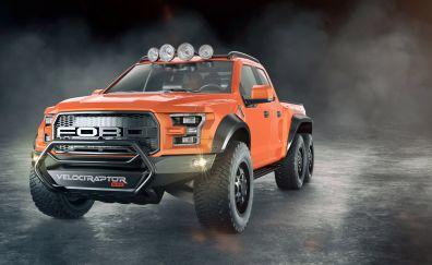 Ford F 250 Velociraptor, SUV, car, front