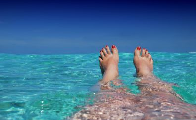 Maldives beach, legs, holiday, summer