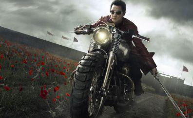 Into the badlands, season 2, bike, katana, meadow