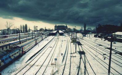 Railway tracks and railway
