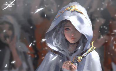 Ghostblade, girl, art