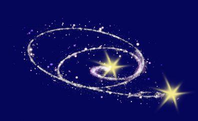 Stars, glitter, abstract