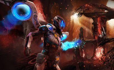 Matterfall, video game, soldier, artwork