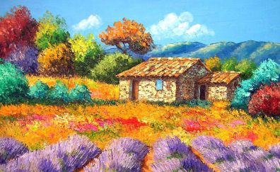 House colorful painting