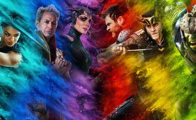 Thor: ragnarok, movie, colorful, art