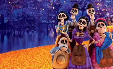 Coco, ghost family, 2017 movie, 8k