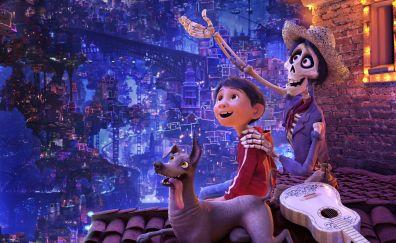 Coco, miguel, movie, dante, ghost, 4k