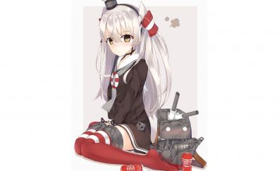 White hair, amatsukaze, kancolle, anime