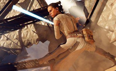 Rey, video game, star wars battlefront 2, 8k