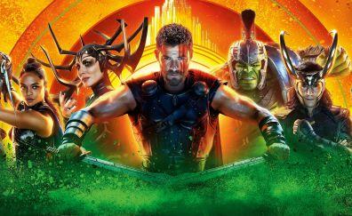 Thor: ragnarok, superheros, 2017 movie, 5k